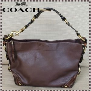 Coach Brown Leather Carly Hobo Shoulder Bag